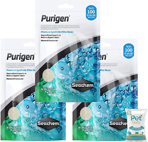 Seachem Purigen Organic Ultimate Filtration Resin 100ml (3 Pack) - Aquarium Fish
