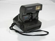 Vintage Polaroid One Step Close Up Instant 600 Film Camera WORKS Missing Cover.