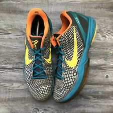 Nike Zoom Kobe 6 VI Helicopter Glass Blue Vibrant Yellow 429659-005 Size 13 Grey