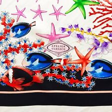 GIANNI VERSACE silk fabric panel Starfishes print from 1995