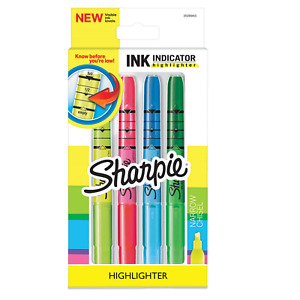 Sharpie Ink Indicator Highlighter Narrow Chisel  Asoorted Colors New 2040310