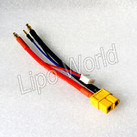 4mm Bananenstecker auf XT60 Buchse Hardcase 2s 12AWG Adapter Lade Kabel Akku