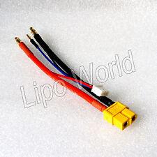 4mm conector banana en xt60 hembra estuche duro adaptador 2s cable cargador batería LiPo