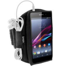 Black Running Jogging Sports Armband for Sony Xperia M4 Aqua Fitness Case Cover