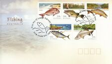L4858sbs Australia 2003 Fishing 50c set on FDC
