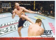 2009 TOPPS UFC ROUND 1 ONE ROOKIE RC DEBUT BEN SAUNDERS VS DAN BARRERA #73