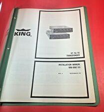 1972 King KT 76 78 Transponder Installation Manual 006-0067-01
