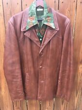 Men's Vintage Leather Jacket 44 Copper/Brown 70's Funky