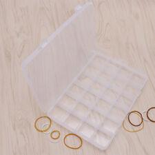 24 Compartments Plastic Case Box Jewelry Craft Bead Storage Container Organizer