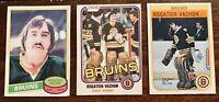 ROGGIE VACHON - HOF O-Pee-Chee OPC Lot Of 3- Boston Bruins Vintage Lot - NM.