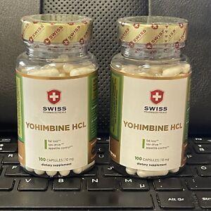 2 x Yohimbine HCL von Swiss Pharmaceuticals 10mg - 100 Caps. NEU NEU NEU NEU
