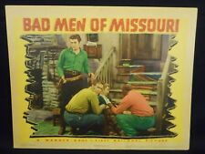 Wayne Morris Dennis Morgan Bad Men of Missouri 1941 Lobby Card Fine Warner Bros