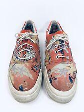 Vtg Converse Tropic Palm Wave Surf Skateboard Shoes Distress Usa Mens Size 10.5