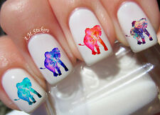 Galaxy Elephants Nail Art Stickers Transfers Decals Set of 36