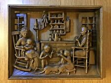 "Burwood Wall Plaque ""At The Hearth 1749"" Colonial Rustic Decor + BONUS Reading"