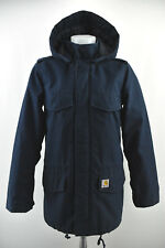 CARHARTT Hickman Coat Mens Jacket Hooded Padded Windbreaker Blue Size XS
