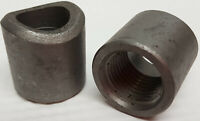 Pair 1/2 female pipe thread weld bungs for welding to round tubing pipe 300 PSI