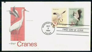 Mayfairstamps US FDC 1994 COVER CRANES PAIR wwi97545