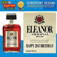 Personalised Amaretto Liqueur Whiskey Bottle Label, Perfect Birthday Gift