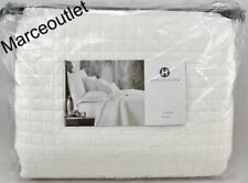 Hotel Collection Basic Grid Full / Queen Quilted Coverlet White