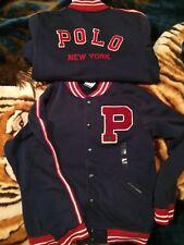 vintage polo ralph lauren stadium Varsity Football P Wing New York Jacket. Sz L