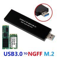 USB3.0 to SATA Based 2280 M.2 NGFF SATA SSD Portable Enclosure Storage Box Black
