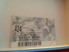 Football Ticket - UEFA -Champions League - AFC Ajax - Club Brugge - 2003