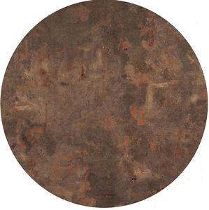 Werzalit Tischplatte 80 cm rund Rostbraun wetterfest Ersatztischplatte Bistro223