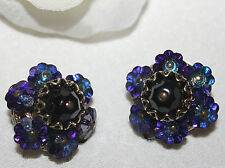 ALICE CAVINESS SIGNED JAW DROPPING EARRINGS WITH UNUSUAL DETAIL AND STONES-EXC