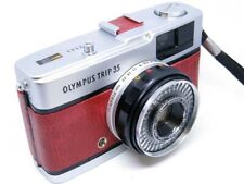 Olympus Trip 35 (1977) REFURB/SERVICED Antique Red Leather - FAB COND