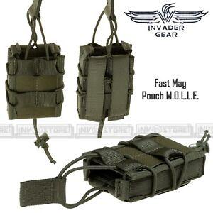 Porta Caricatore Singolo Fucile Fast Mag 5.56 INVADER GEAR Sistema MOLLE Verde