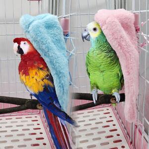 Pet Bird Parrot Parakeet Warm Plush Hammock Cage Hut Tent Bed Hanging Cave Bed