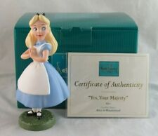 """WDCC """"Yes, Your Majesty"""" Alice from Disney's Alice in Wonderland Box COA WDAC"""