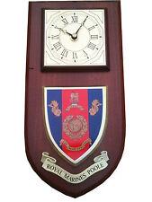 Royal Marines Poole Regimental Military Wall Plaque Clock
