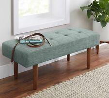 End Of Bed Bench For Bedroom Entryway Entry Seat Stool Seafoam Green Upholstered