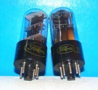6X5GT FoMoCo radio guitar amplifier vintage audio vacuum tubes 2 valves tested