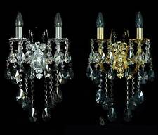 Estilo moderno Cristal Aplique Lámpara de pared verdadero cristal Oro o Plata