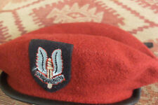 single  RED BERET HAT>ARMY CAP>SAS>WHO DARES WINS>MILITARY UNIFORM>WW2 1939/45
