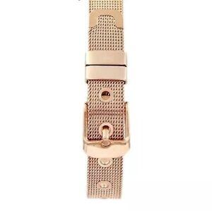 *UK SELLER* Rose Gold/Gold Mesh Charm Bracelet 'LOVERS BOND' With Buckle Clasp