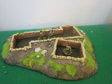 Resin 20mm WW2 Prepared Infantry Position with Trench - Painted