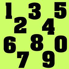 """10 cm """" Set 0 bis 9 """" Schwarz glanz SA-04 Zahlen Aufkleber Klebezahlen Ziffern"""