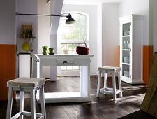 Küchentisch Hocker Set Stuhl Tisch Landhaus Shabby Chic Mahagoni weiss massiv