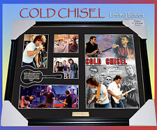 NEW!! COLD CHISEL MUSIC MEMORABILIA SIGNED FRAME LIMITED EDITION TO 499 w/ C.O.A
