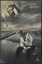 AK Postcard 1915 Army Soldiers Sailor Matrose Meer Ships Post Feldpost WWI (36)