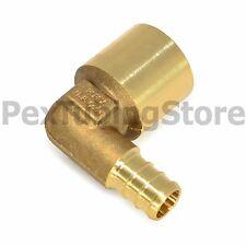 "1/2"" PEX x 3/4"" Female Sweat Elbow - Brass Crimp Fitting"