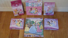 Disney Princess Glitter Puzzles, Wooden Puzzle, Nightlight ,Stickers, Stamp Set