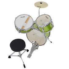 "Mendini 13"" Junior Drum Set in Black, Blue, Green, Red or Purple +Cymbal & Stick"