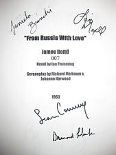 From Russia With Love Signed Movie Script X4 Bond Sean Connery Llewelyn reprint