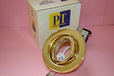 BULK LOW VOLTAGE BRASS TILT DOWN LIGHT FITTING SUPERIOR QUALITY CHEAP !     dp8