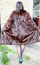 VTG 60's real  mink fur long coat size M/L UK 12/14 EU40-42